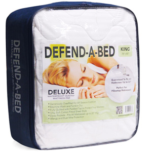 Classic Brands Defend-A-Bed Deluxe Quilted Waterproof Mattress Protector