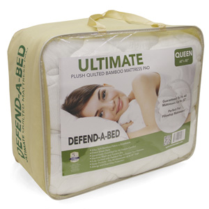 Classic Brands Defend-A-Bed Ultimate Extra Plush Double Thick Bamboo-Rayon Fitted Waterproof Mattress Protector