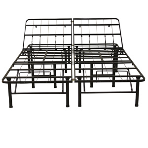 Classic Brands Adjustable Heavy Duty Metal Bed Frame/Mattress Foundation or Box Spring