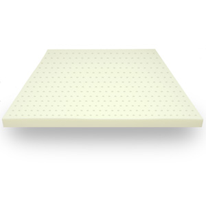 Classic Brands 3-Inch Thick, 4 Pound Density Ventilated Memory Foam Mattress Pad Bed Topper