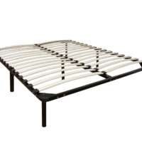 Europa Wood Slate And Metal Bed Frame