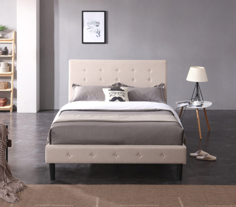 Cambridge Upholstered Headboard Bed Frame, Classic Brands Cambridge Upholstered Headboard Bed Frame, headboard, bed frame, platform bed, queen,king, full, head board, frame for bed, frame for mattress